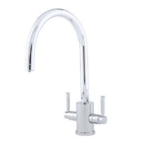 4212 Perrin & Rowe Orbiq Monobloc Sink Mixer Tap C Spout with Lever Handles